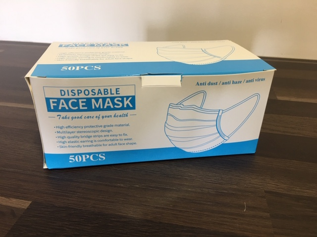 Medical Grade Face Mask 3 ply box 50